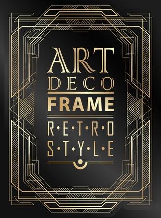 Art-Deco-geometrischen Vintage-Rahmen für Einladung, Glückwünsche verwendet werden, Standard-Bild - 42749588