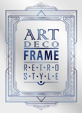 poster art: Art deco geometric vintage frame can be used for invitation, congratulation