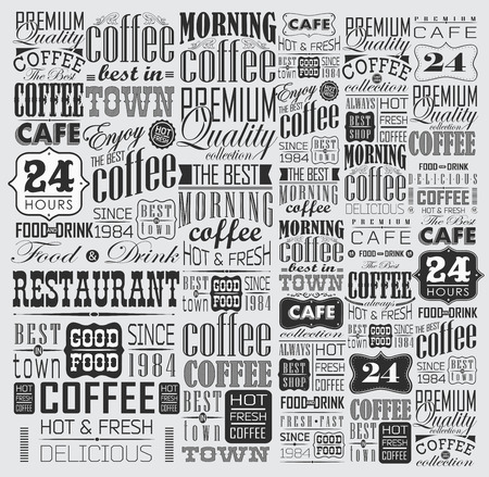 masculine: Mega set of Vintage Retro Coffee  Labels and typography. Coffee decoration collection