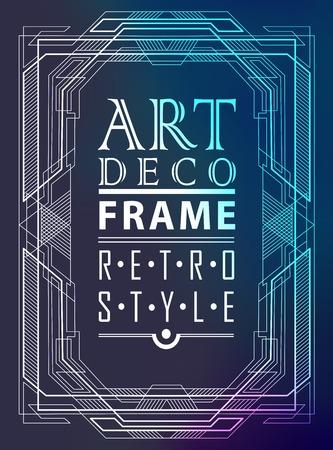 アールデコの幾何学的なビンテージ フレーム  イラスト・ベクター素材