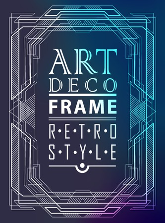 art deco design: Art deco geometric vintage frame