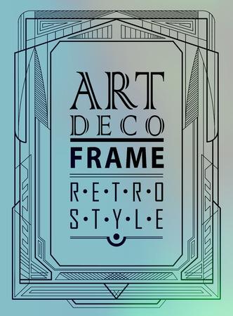 classic style: Art deco geometric vintage frame