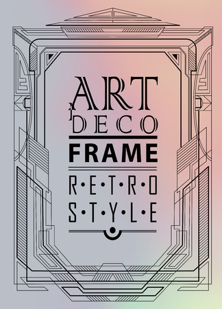 vintage art: Art deco geometric vintage frame can be used for invitation, congratulation