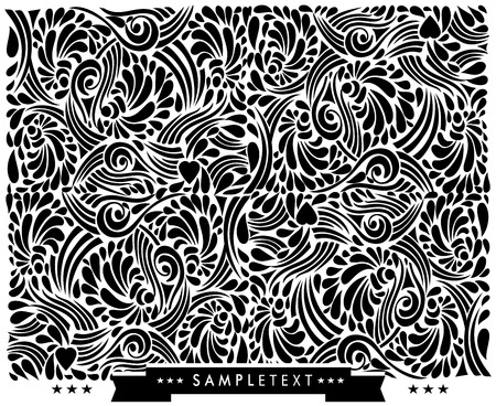 calligraphic design: Decorative calligraphic design elements