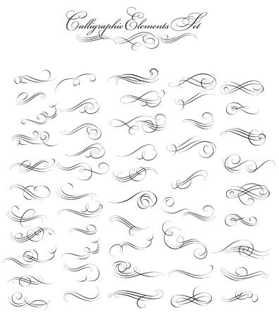 Dekorative kalligraphische Design-Elemente Standard-Bild - 42759482
