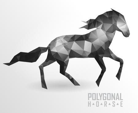 Abstract polygonal horse