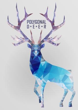 head light: Abstract polygonal deer