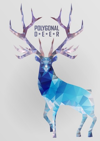 diamante negro: Ciervos poligonales Abstract