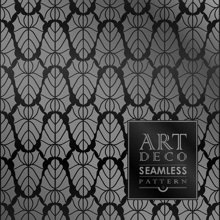 30s: Art Deco vintage wallpaper pattern