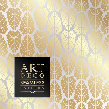 Art Deco vintage wallpaper pattern