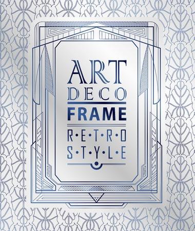ornamental frame: Art deco geometric vintage frame
