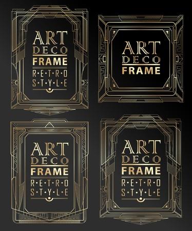 art deco: Art deco geometric vintage frame