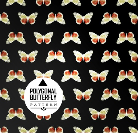 butterfly flying: Colorful polygonal butterfly flying. Geometric pattern Color butterfly flying Illustration
