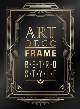Cadre vintage géométrique Art déco peut être utilisé pour l'invitation, félicitation Banque d'images - 42862080