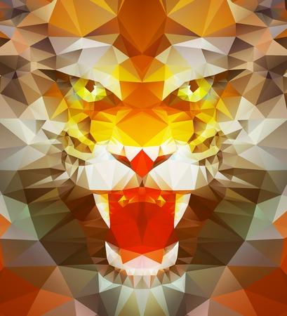 tiger: Abstract polygonal tiger