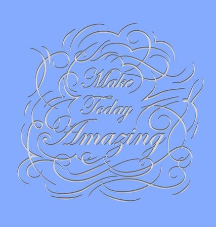 encouraging: Inspirational and encouraging quote calligraphic design.