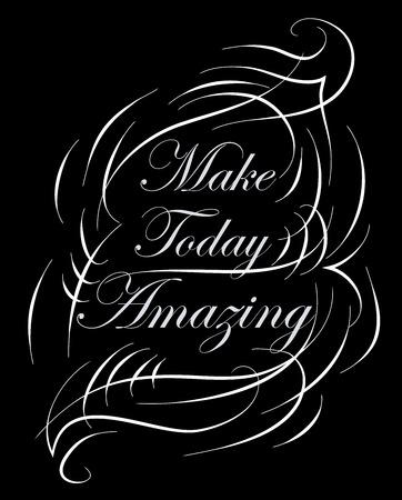 encouraging: Inspirational and encouraging quote calligraphic design.  Illustration
