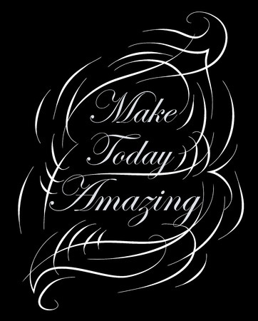 Inspirational and encouraging quote calligraphic design.  Illustration