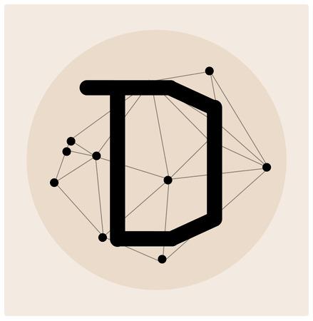 teorema: Carta poligonal abstracto en estilo Cósmico.