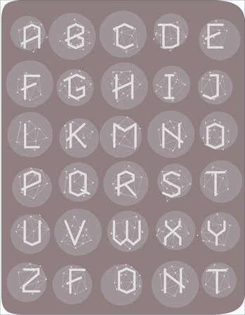astrophysics: Polygonal geometric font. Creative Alphabet. Typographic Set. Cosmic style