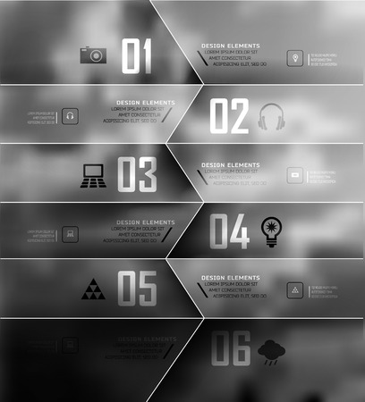 step up: Blur business step transparent and shadows options banner. Vector illustration. can be used for , diagram, number options, step up options, web template, infographics. Blur, shadows background Illustration
