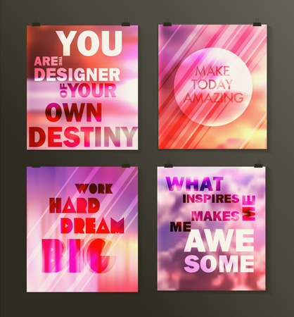 typographical: Quote poster. Typographical background. Creative retro design
