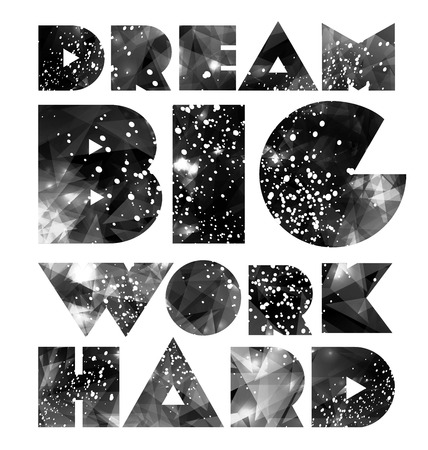 Citer typographique galaxie fond, design rétro. Affiche créative Hipster Vecteurs