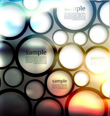 website banner: abstract  options on blur background, can be used for website, info-graphics, number banner