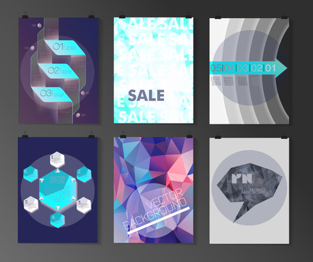 blank space: Set of poster, flyer, brochure design templates in different styles. Infographic concept. Retro design. Abstract modern backgrounds.