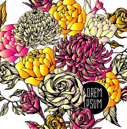 beautiful flower: Beautiful flower background art. Decorative floral elements