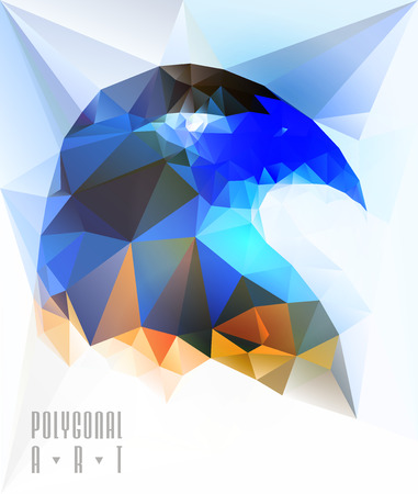 origami bird: Abstract polygonal bird. Geometric illustration. low poly poster