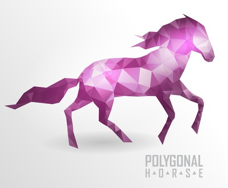 Abstract polygonal horse. Geometric hipster illustration. Polygonal horse Illustration