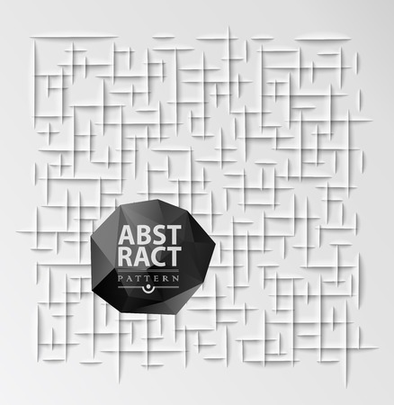 clean cut: Abstract geometric background,  paper cut texture with shadow. Simple clean background texture, interior wall panel pattern.