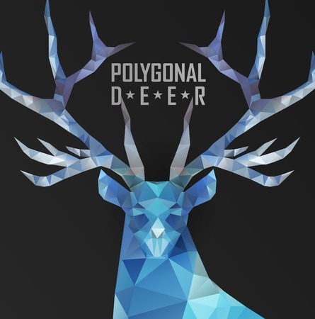 graphic elements: Abstract polygonal deer. Geometric hipster illustration. Polygonal antlers. Illustration