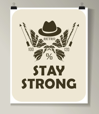 anchor man: Hipster Quote Background, typography with sign and symbol. Funny poster