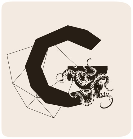 gothic style: Abstract letter in gothic style. Creative font.