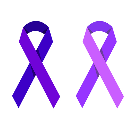 victims: Purple ribbon symbolizing victims of homophobia
