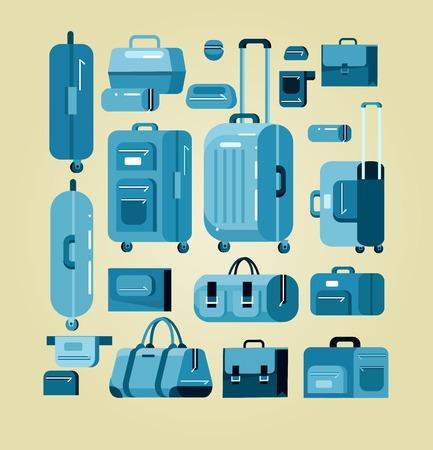 travel bag: Travel bags in various colors.