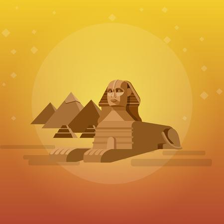 ancient civilization: High quality, detailed most famous World landmark. Illustration