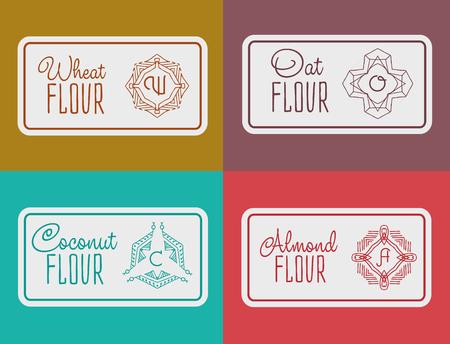 oat field: label for flour packaging.