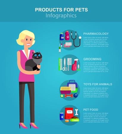 veterinaria: producto de infografía para las mascotas y veterinarias Vectores
