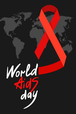 aids: World AIDS Day. 1st December World Aids Day poster with with calligraphic text AIDS Day . Vector AIDS Day illustration