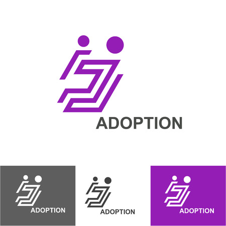 adoption: Business Icon - Vector logo design template. Abstract concept for Sweet Home, adoption, happy family, charity