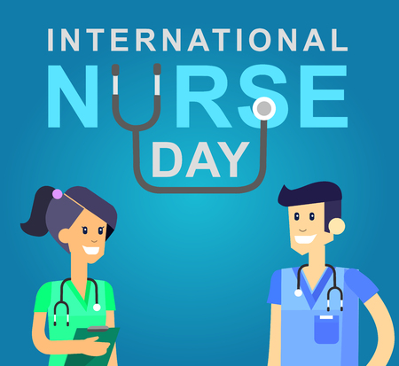physical exam: Vector illustration for International Nurse Day. Vector illustration for Nurse Day. Poster Nurse Day