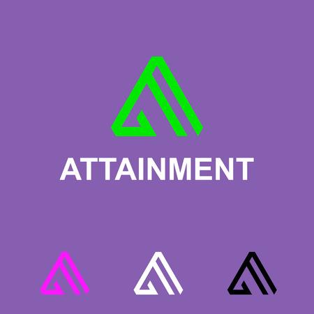 attainment: Business Icon - attainment. Illustration
