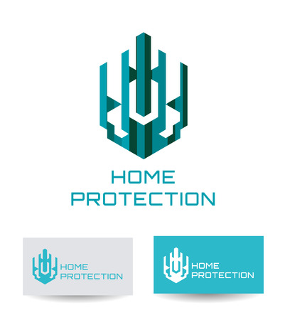 home protection: Business Icon - Home protection. Illustration