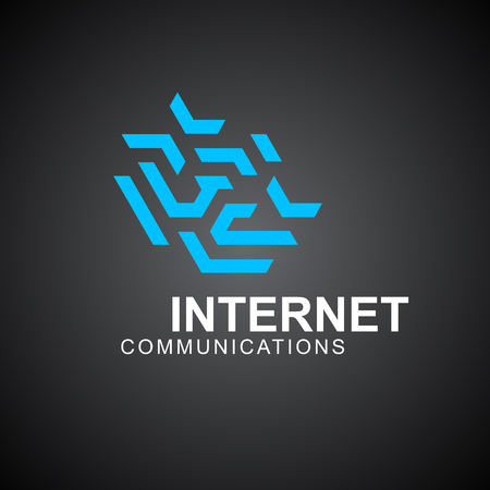 communications: Abstract emblem for communications company, Internet communications, corporate management