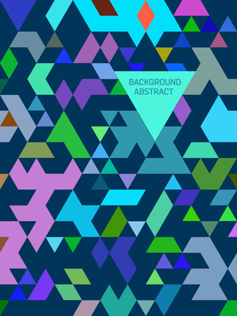 absract: Absract triangle background. Seamless pattern with triangles