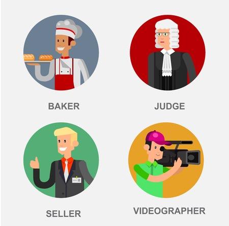 career coach: Profession people avatars. Detailed character professionals avatars. Illustration of character Profession people avatars. Vector avatars, flat avatars Profession people