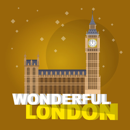 bigben: High quality, detailed most famous World landmark. Vector illustration of the Big Ben, the symbol of London and United Kingdom. Travel vector. Travel illustration. Travel landmarks. Happy travel